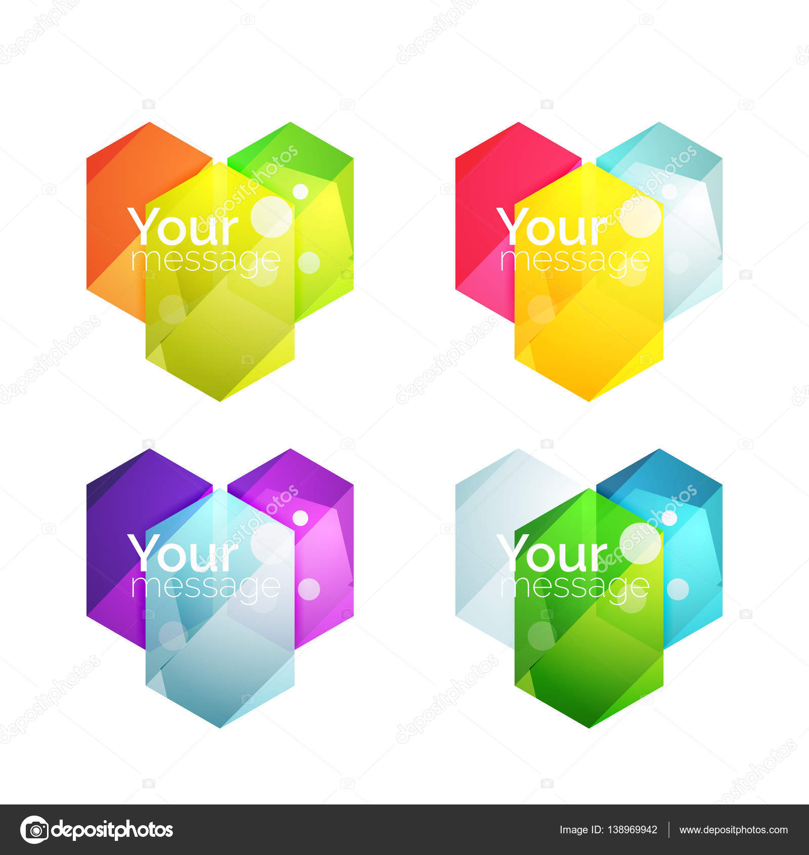 Set of vector shiny blank boxes for your content — Stock