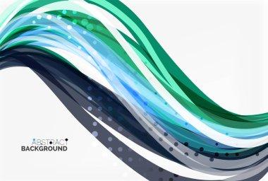 Elegant colorful wave, stripes