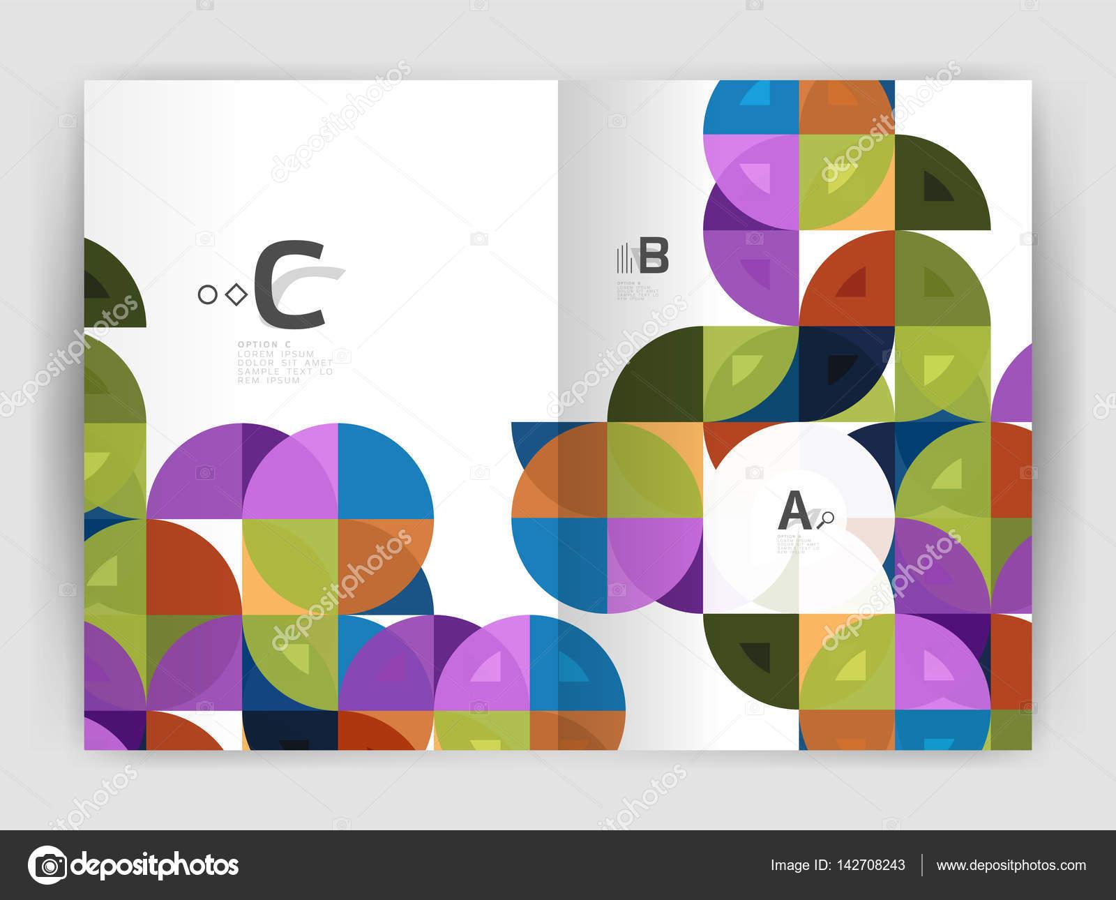 Zusammenfassung Hintergrund mit Farbe Dreiecke, Jahresbericht ...