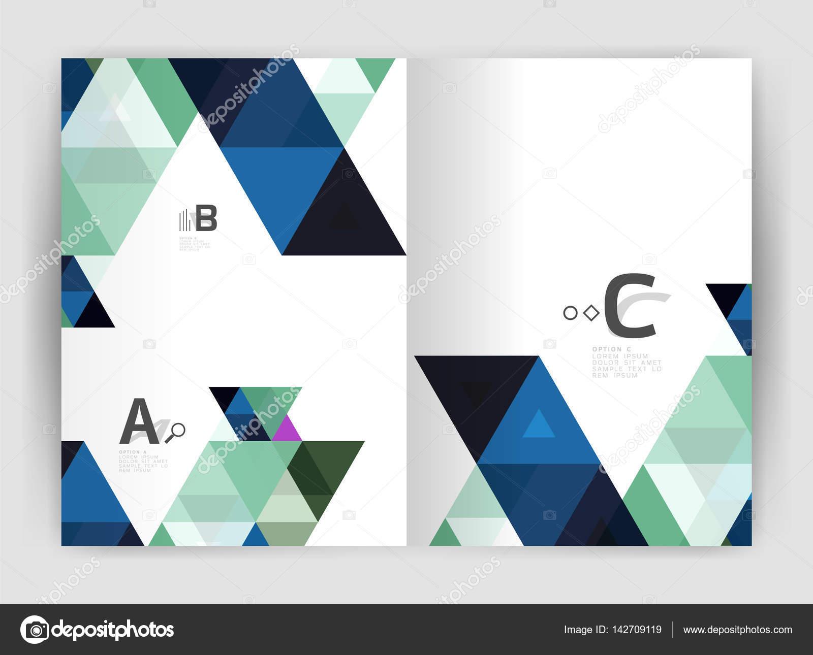Abstrakte a4 Broschüre Druckvorlage — Stockvektor © akomov #142709119