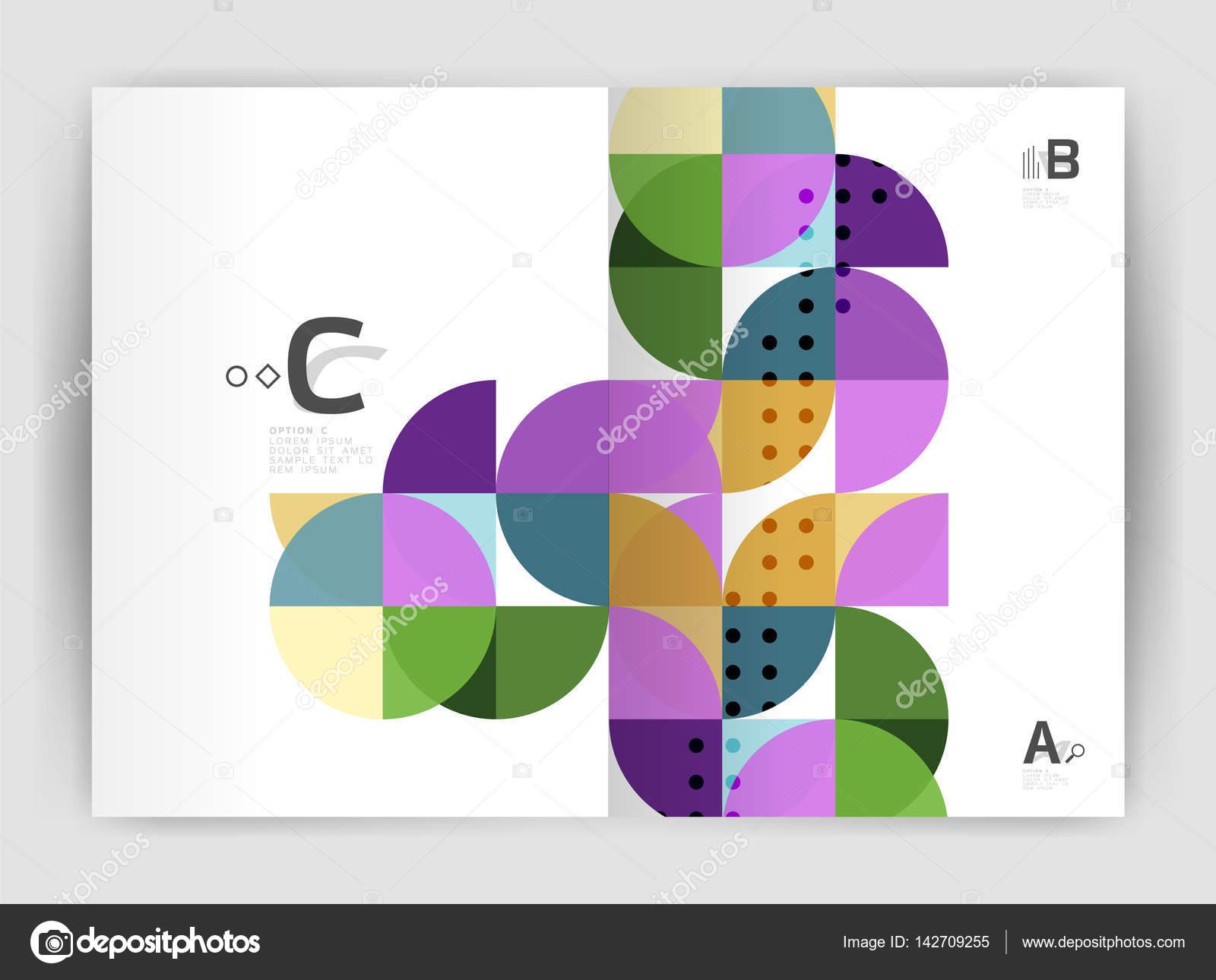 Abstrakte a4 Broschüre Druckvorlage — Stockvektor © akomov #142709255