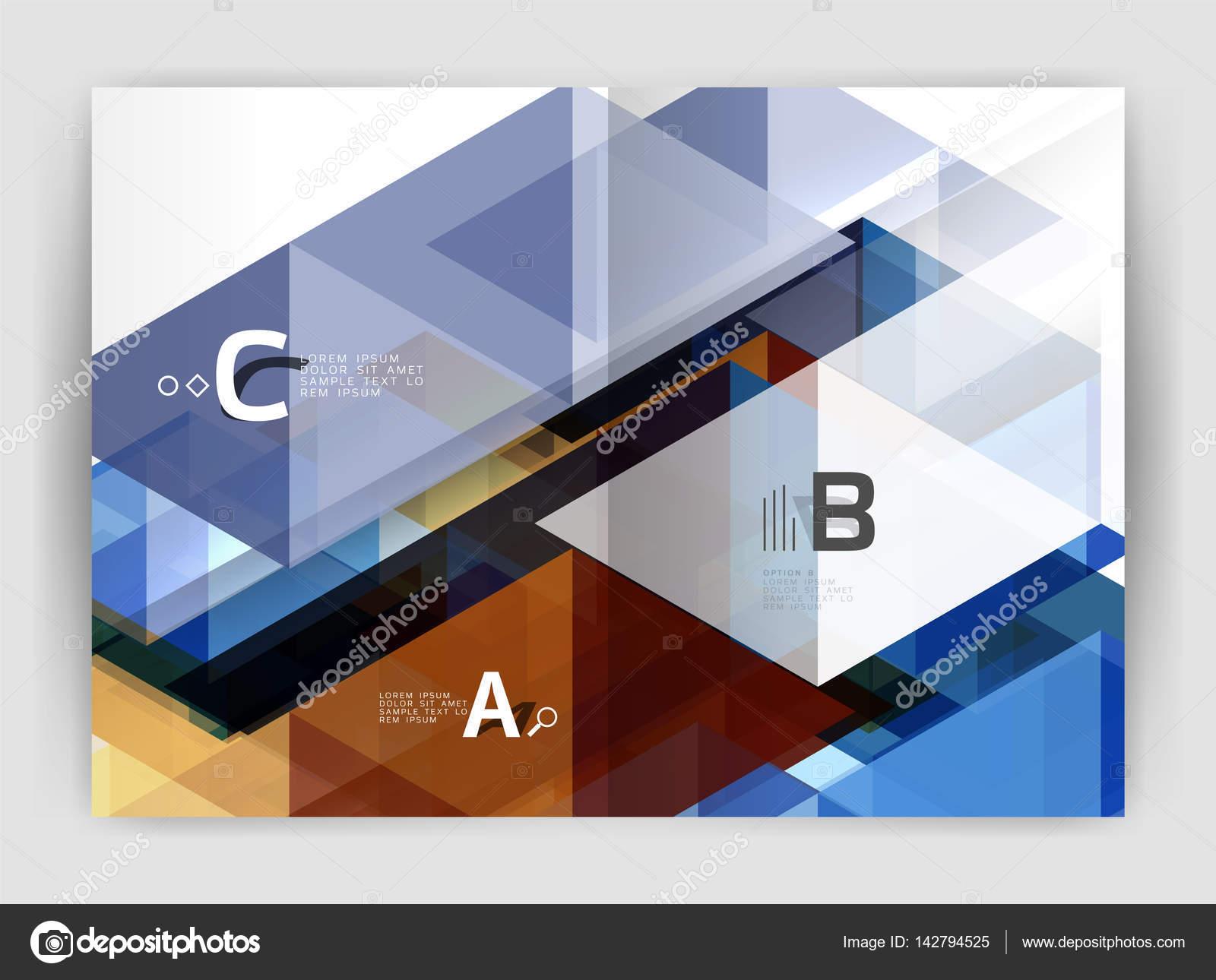 Abstrakte a4 Broschüre Druckvorlage — Stockvektor © akomov #142794525
