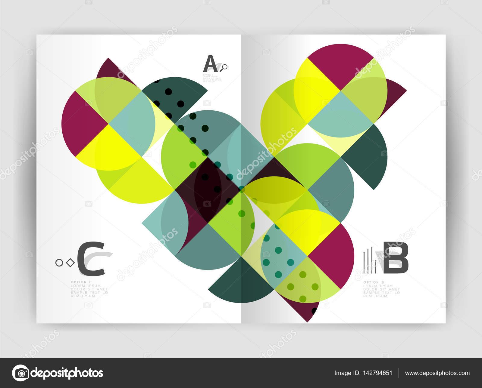 Abstrakte a4 Broschüre Druckvorlage — Stockvektor © akomov #142794651