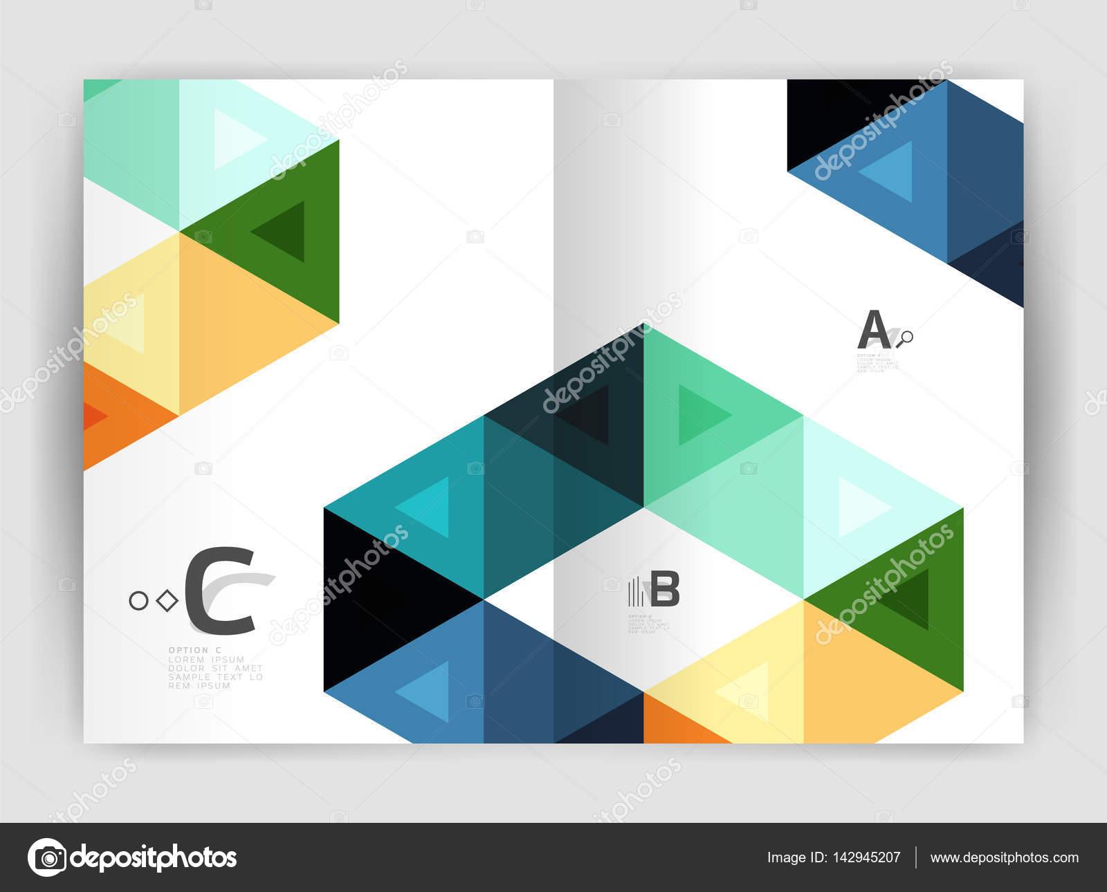 Abstrakte a4 Broschüre Druckvorlage — Stockvektor © akomov #142945207