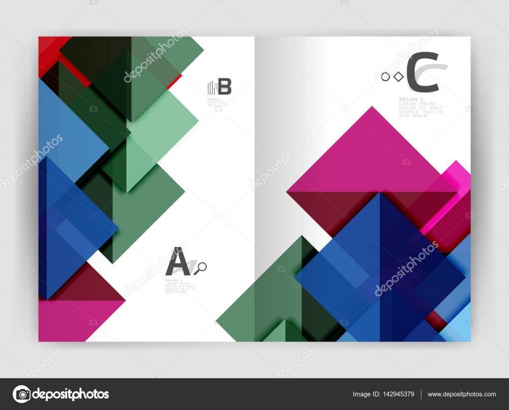 Abstrakte a4 Broschüre Druckvorlage — Stockvektor © akomov #142945379