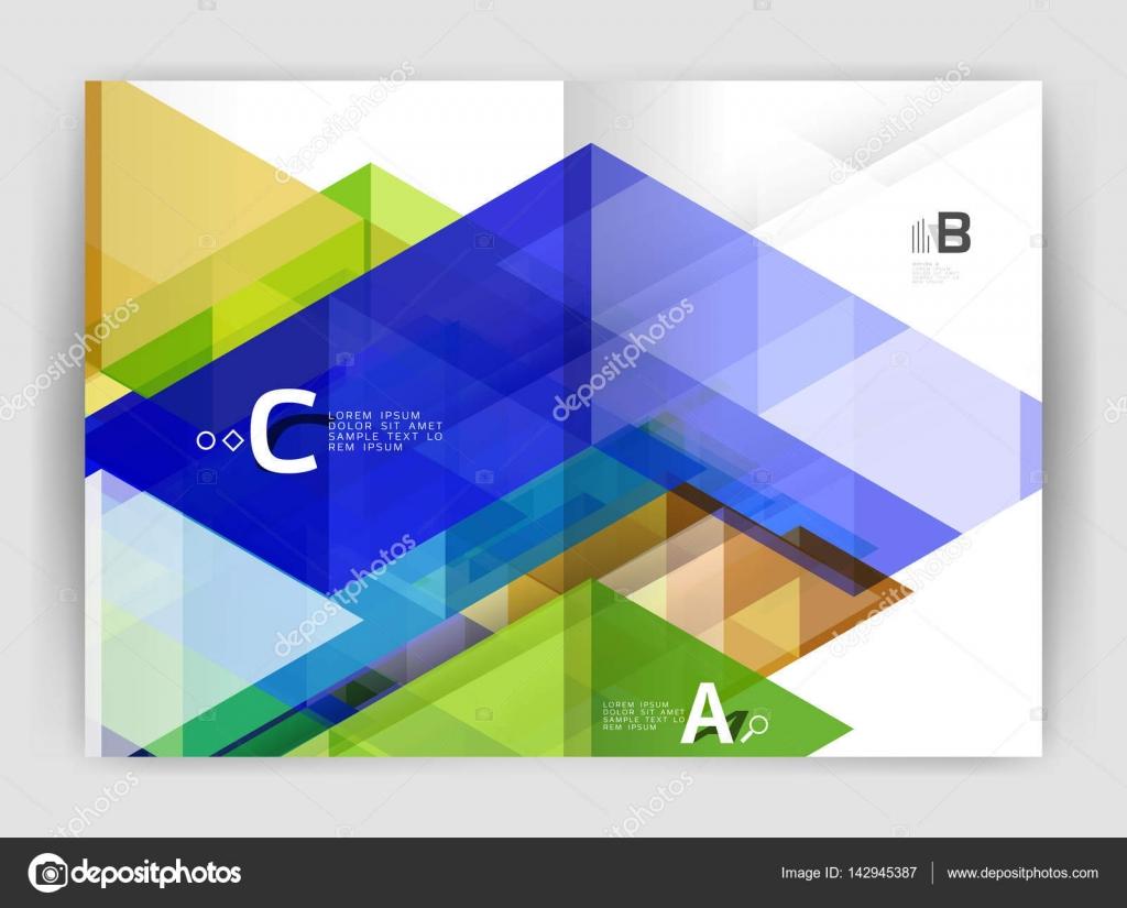Abstrakte a4 Broschüre Druckvorlage — Stockvektor © akomov #142945387