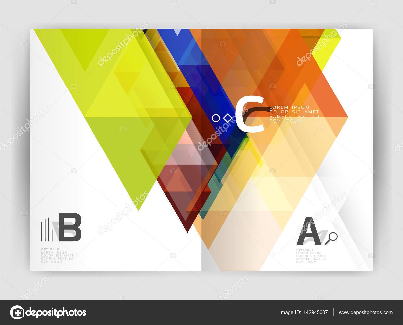 Abstrakte a4 Broschüre Druckvorlage — Stockvektor © akomov #142945607