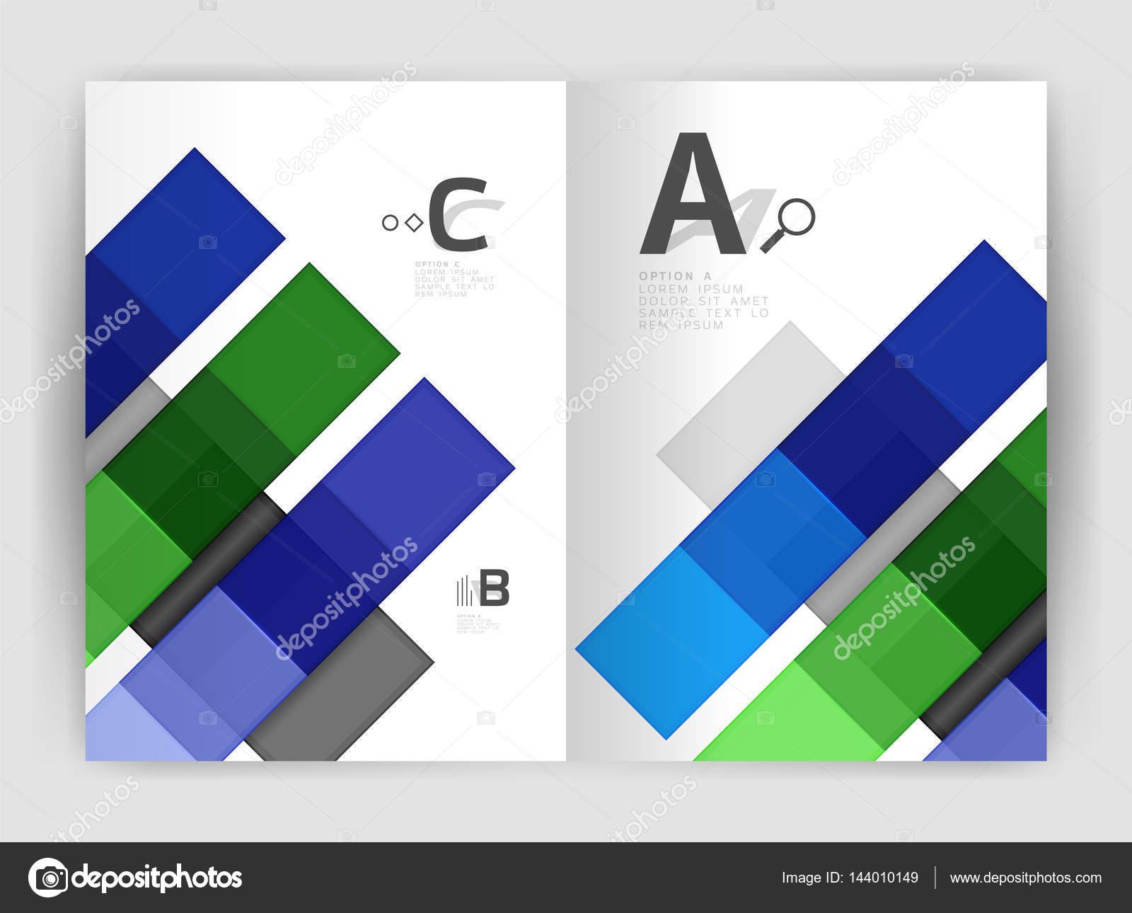 Quadrate und Rechtecke a4 Broschüre Vorlage — Stockvektor © akomov ...