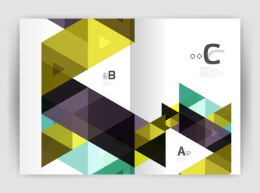Vector triangle print template