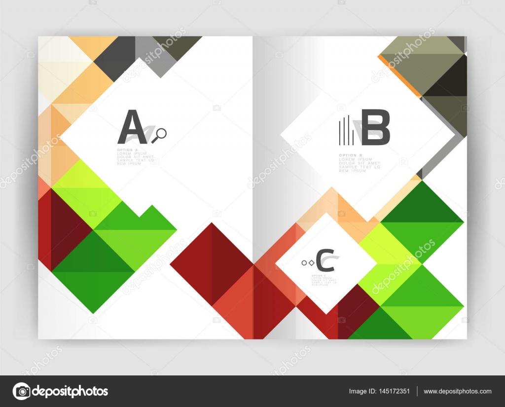 Plaza informe anual folleto a4 imprimir plantilla — Vector de ...