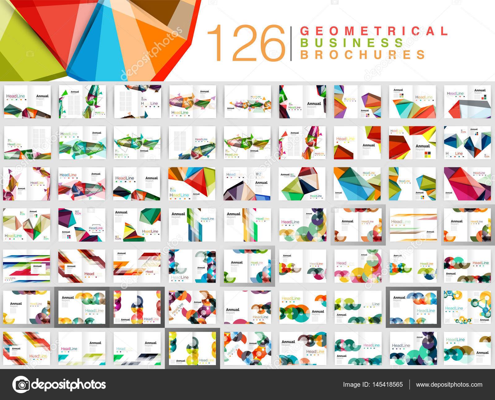Mega-Sammlung von Business-Broschüre-Vorlagen, Deckblatt ...