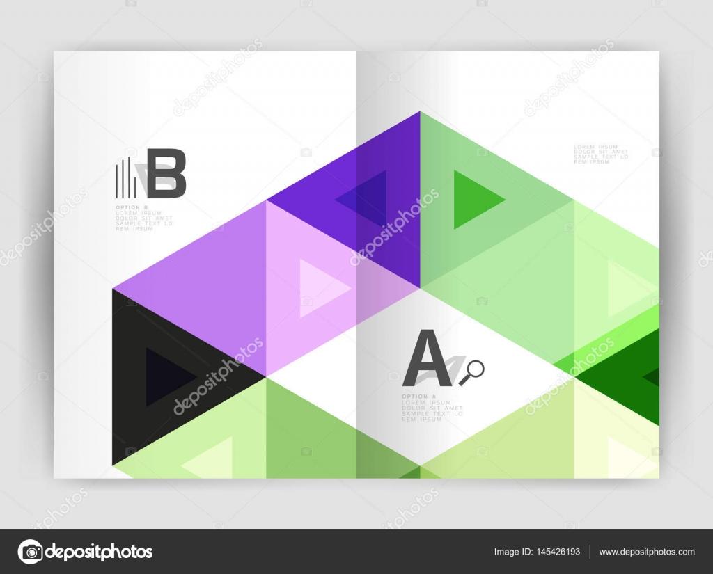 Plantilla de negocio moderno folleto o folleto impresión tapa ...