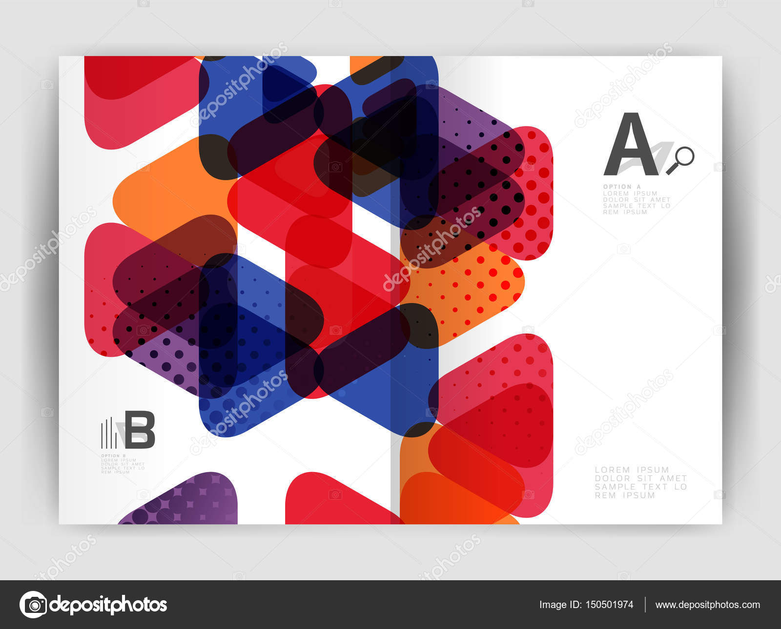 Vector triángulo empresarial anual cubierta impresión plantilla para ...