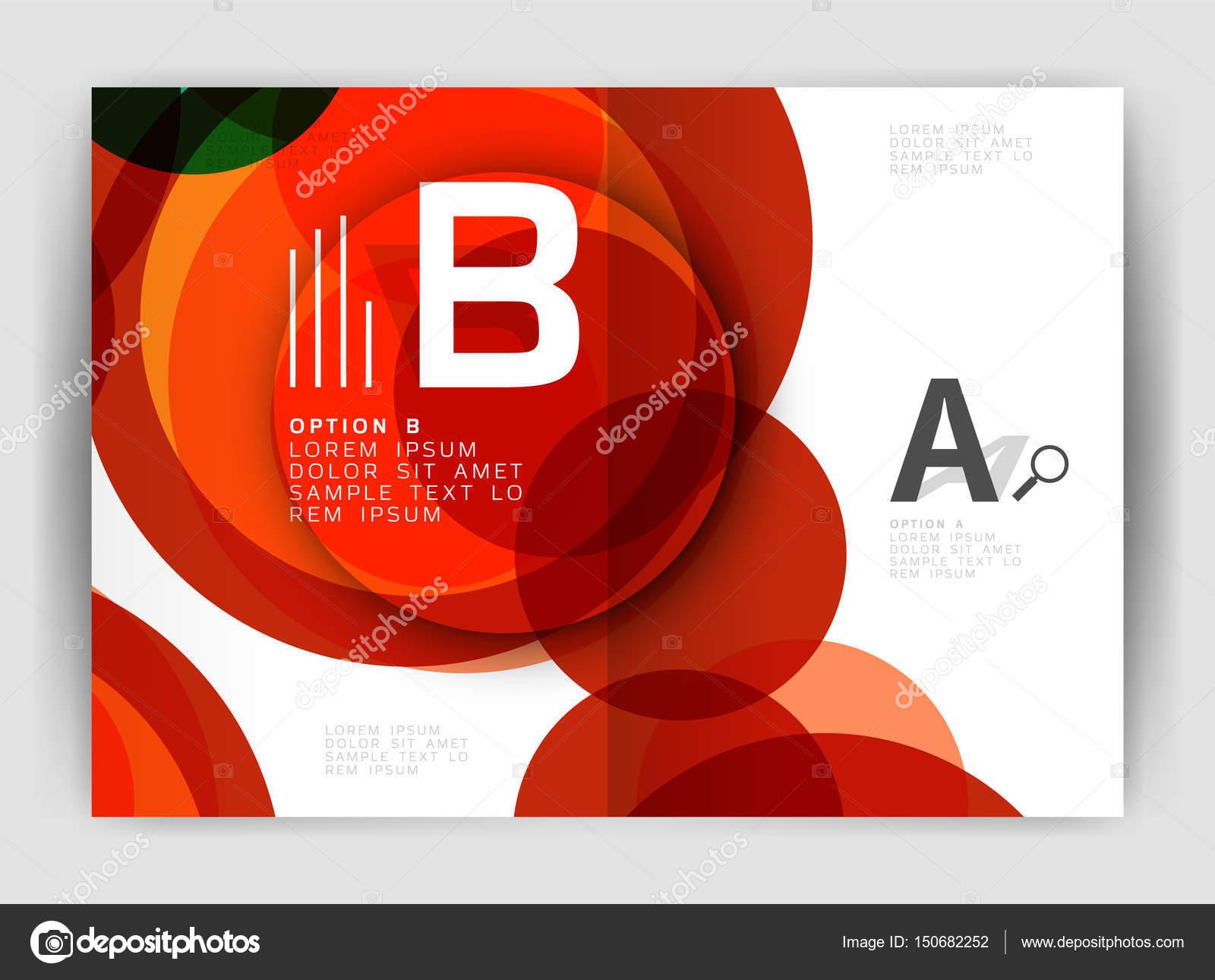 Abstrakte Kreise umfasst Jahresbericht. Modernes Business Broschüre ...