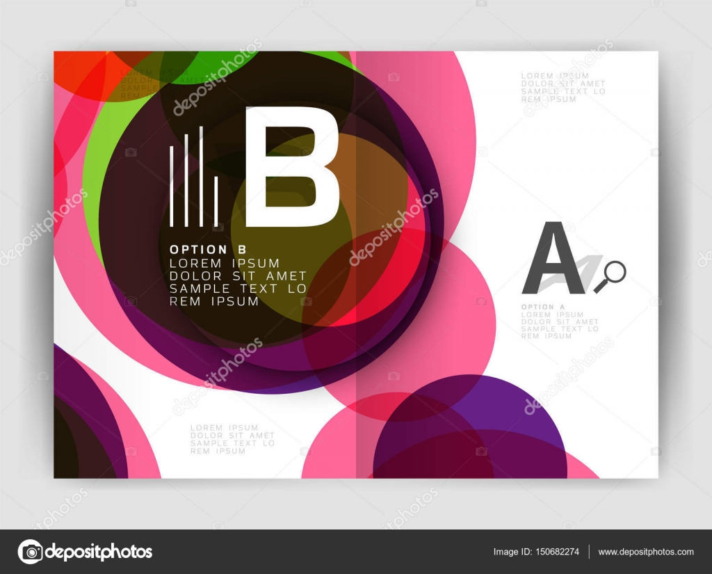 abstract circles annual report covers modern business brochure