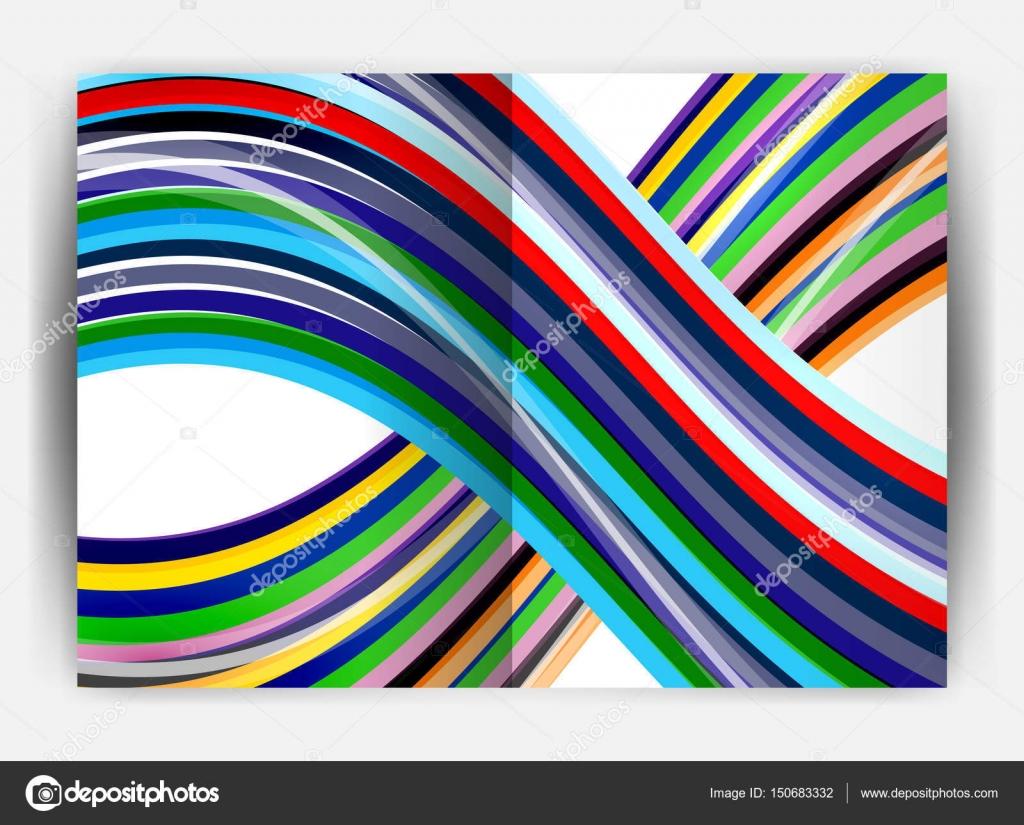 """Schablone /"""" Muster Welle /"""" auf A4"""