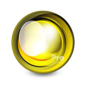 Skleněná koule, futuristické abstraktní prvek