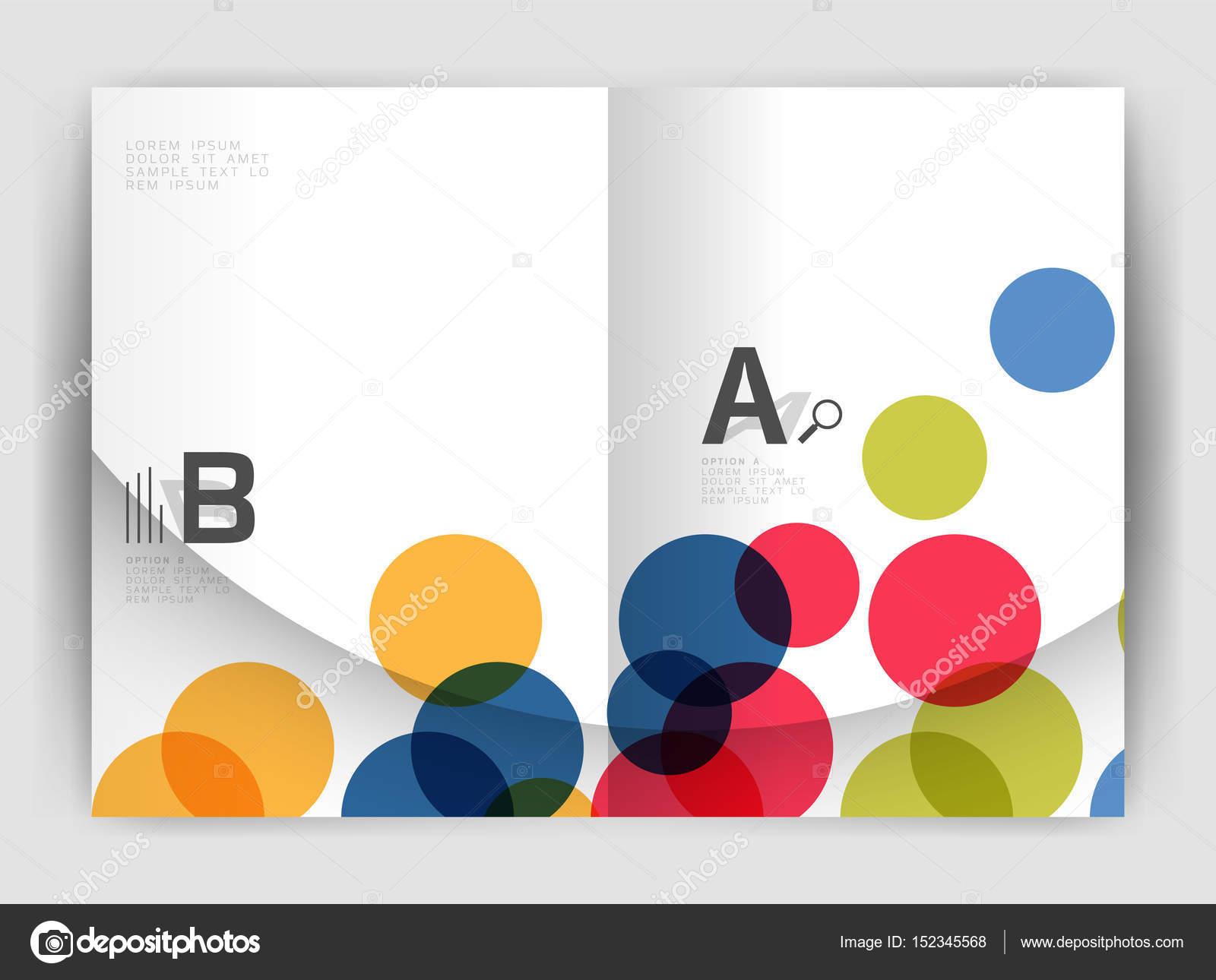 Círculos abstractos, informe anual cubre. Plantillas de folleto de ...