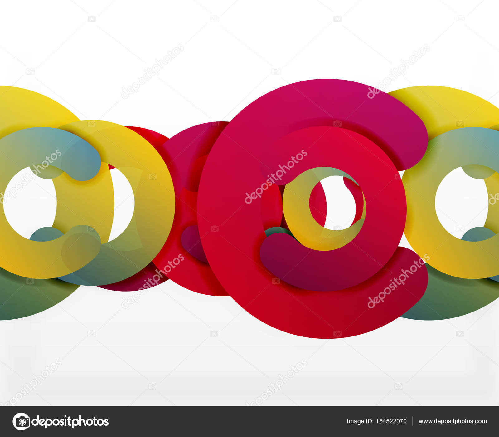 Circle geometric abstract background, colorful business or ...