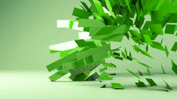 Abstract futuristicgeometric transformation motion graphic background