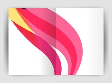 Wave design business brochure or annual report cover