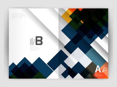 Square design corporate business flyer