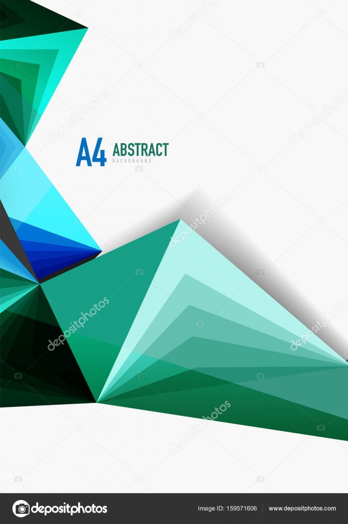 vector low poly style 3d triangle line stock vector akomov