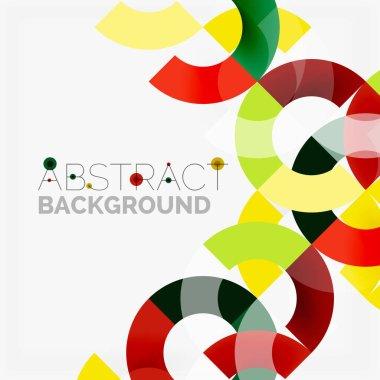 """Картина, постер, плакат, фотообои """"цветные кольца на сером фоне, современный геометрический дизайн узора постеры модульные искусство"""", артикул 161677826"""