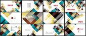 Business presentation geometric template