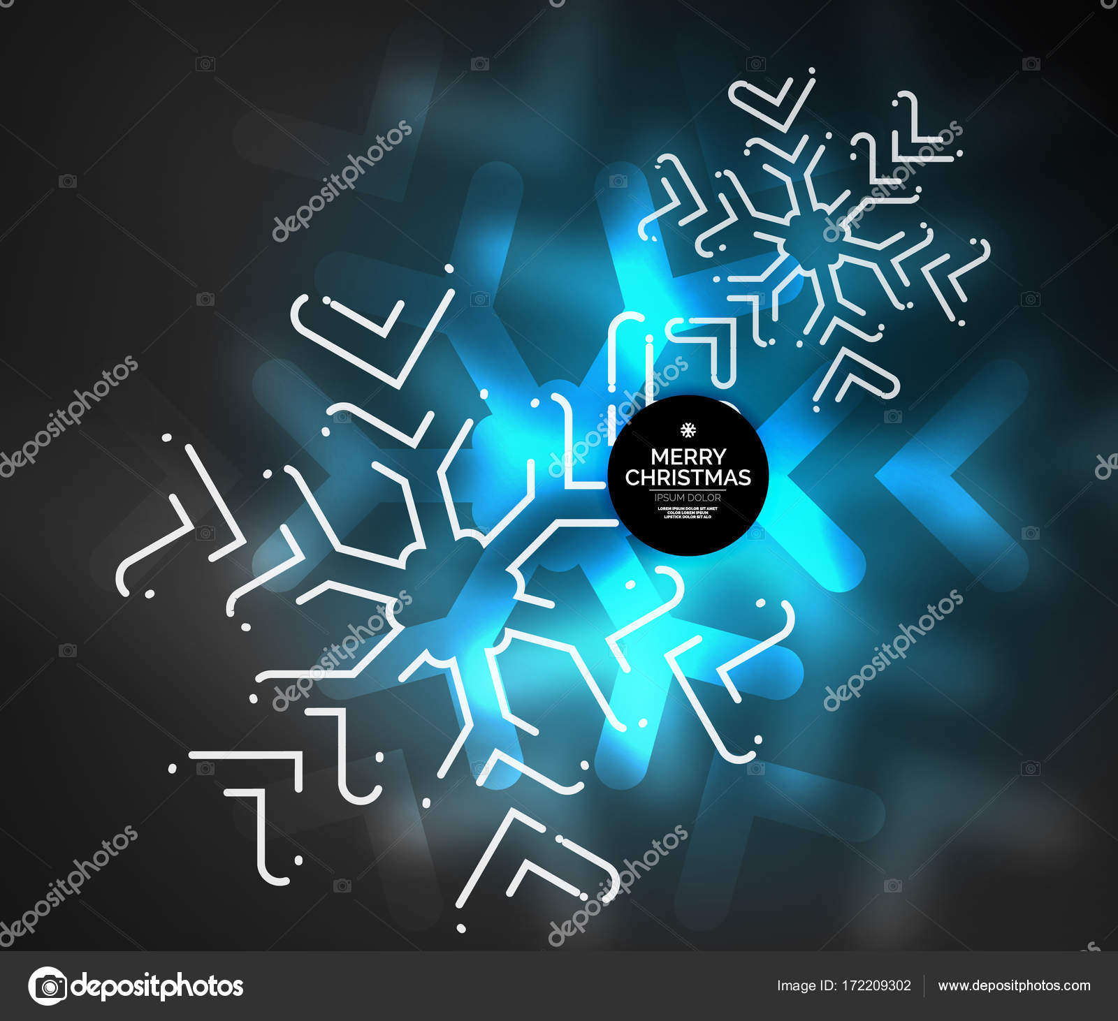Frozen winter holiday background, Christmas snowflakes — Stock ...