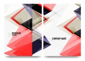 Business brochure cover layout, flyer a4 template
