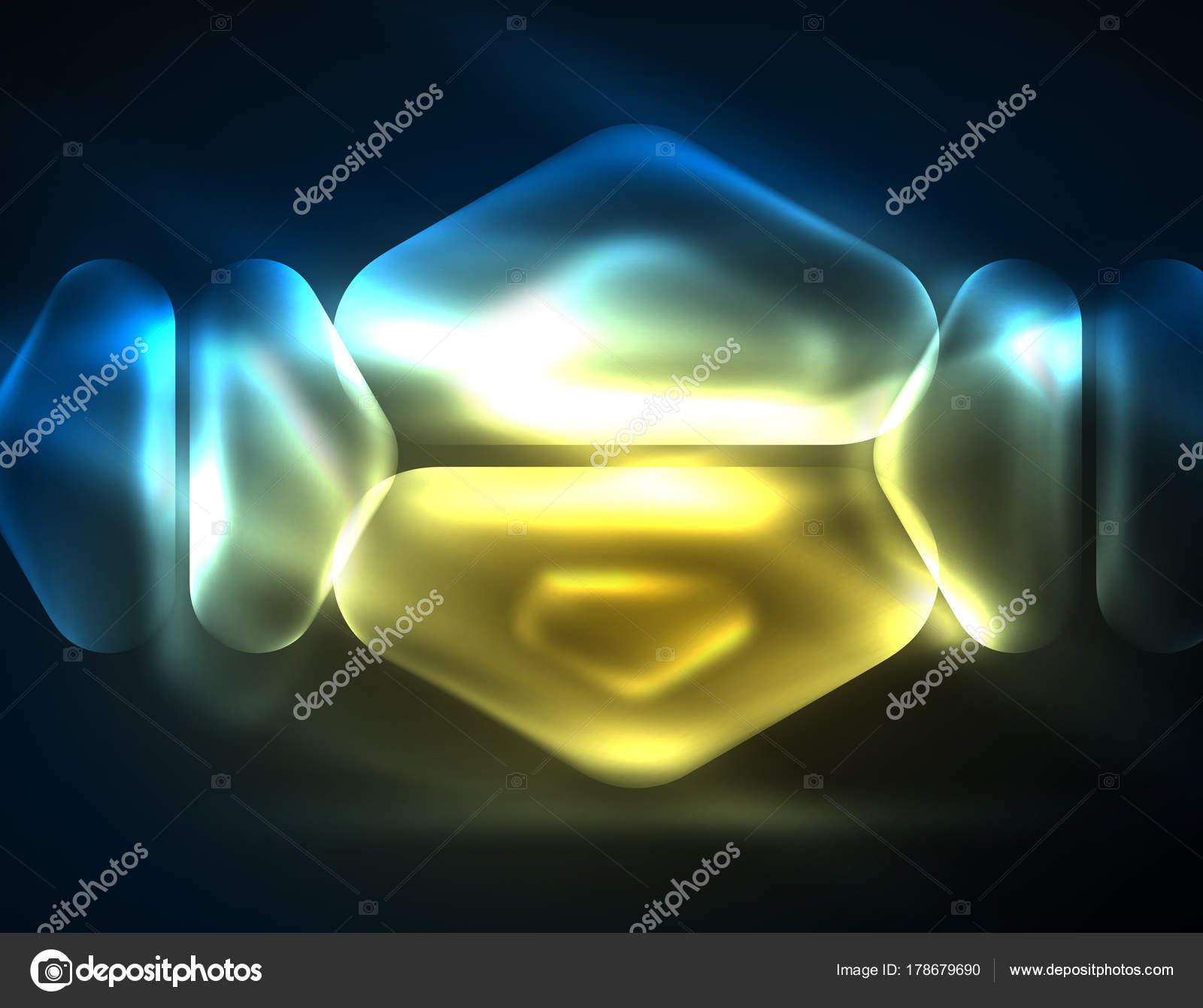 Leuchtende Farbe beleuchtete lens-flares, leuchtende farbe techno hintergrund