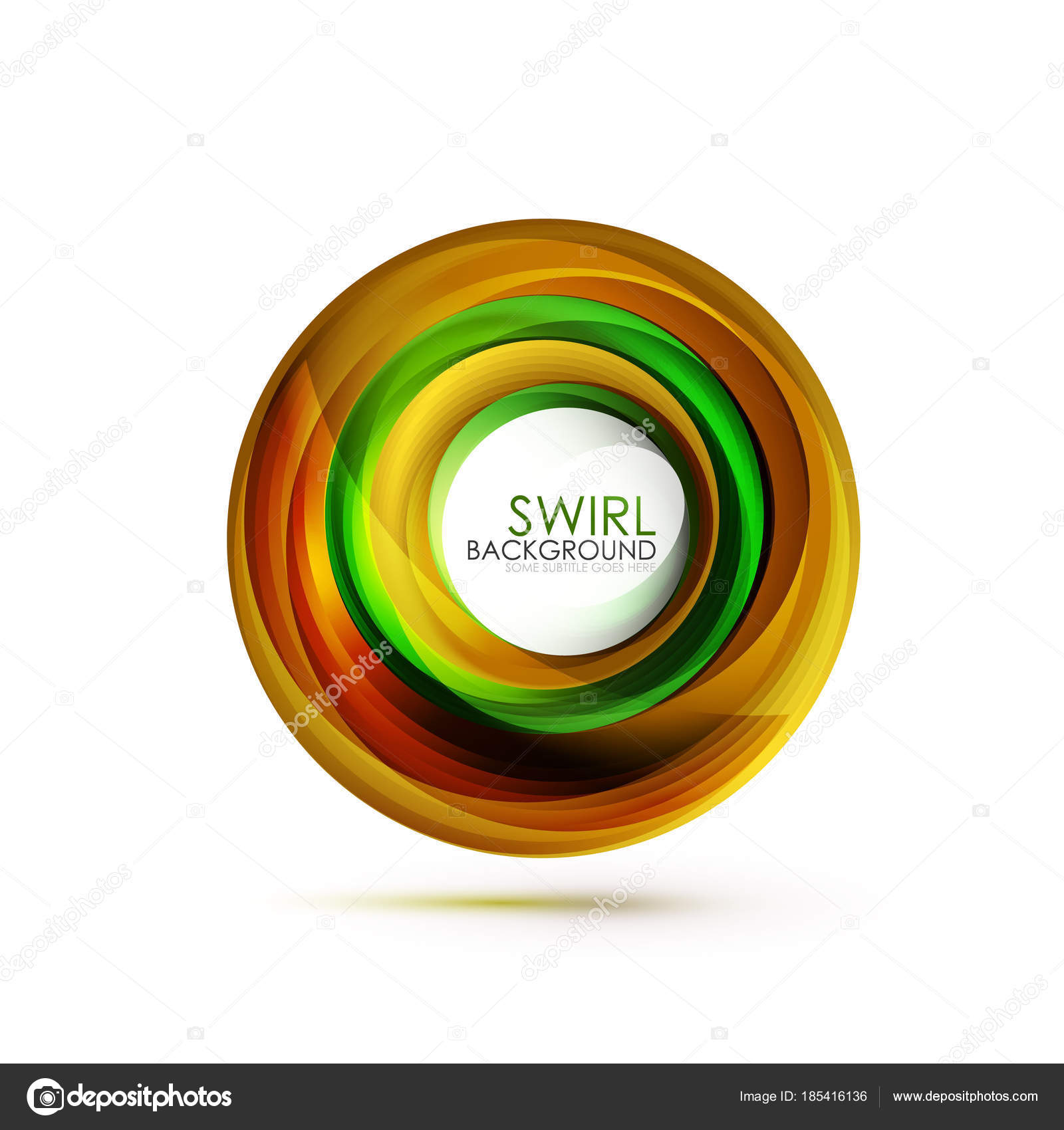 Abstract Swirl Banner Circle Vector Abstract Background