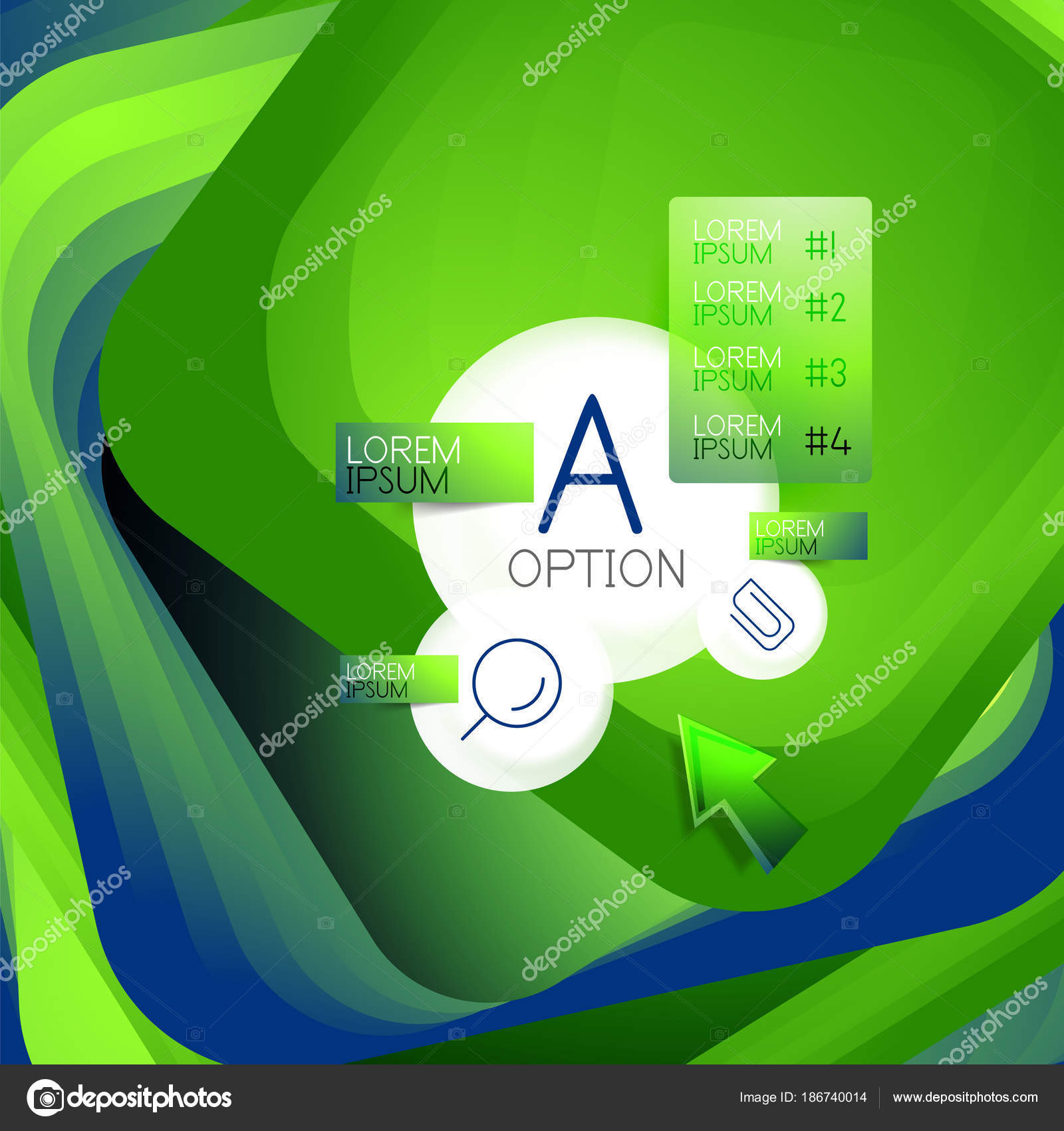 Rotating Swirl Square Background Color Rectangles With Stepping Blending Effect Sample Infographics Or Slogan