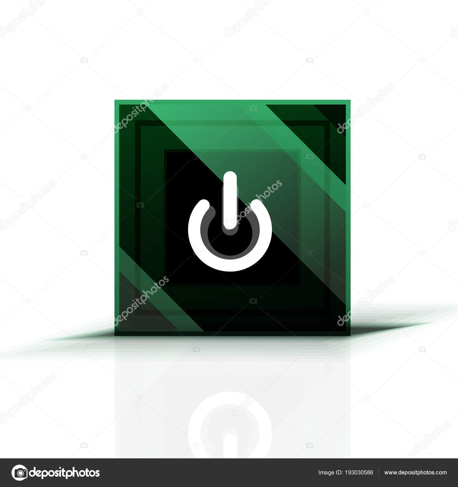 Power button icon, start symbol, web design UI or application design