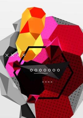 """Картина, постер, плакат, фотообои """"Цвет 3d геометрические композиции плаката"""", артикул 193365736"""