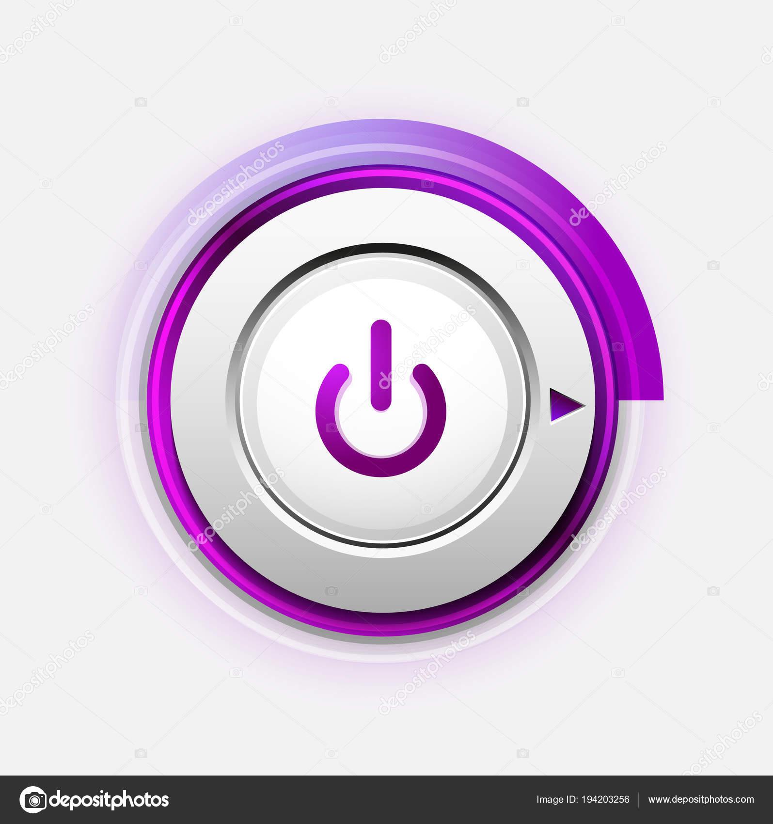 power button technology logo digital art techno concept on off icon stock vector c akomov 194203256 depositphotos