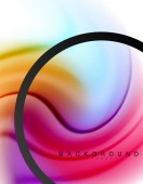 Vířící tekutina tekoucí barvy pohybový efekt, holografické abstraktní pozadí