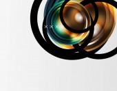 Abstraktní pozadí - lesklé skleněné bubliny, abstraktní kulové tvary. Vektorové ilustrace pro tapetu, nápis, pozadí, karta, ilustrace knihy, úvodní strana