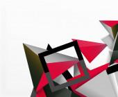 Abstraktní pozadí, mozaika 3D trojúhelníky složení, nízký polystylový design. Vektorové ilustrace pro tapetu, nápis, pozadí, karta, ilustrace knihy, úvodní strana