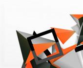 Abstrakter Hintergrund, Mosaik-3D-Dreiecke Komposition, Low-Poly-Design. Vektor-Illustration für Tapeten, Banner, Hintergrund, Karte, Buchillustration, Landing Page