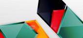 Metallglänzende geometrische Formen mit 3D-Effekt-Komposition. Techno futuristischer Vektor abstrakter Hintergrund für Wallpaper, Banner, Hintergrund, Karte, Buchillustration, Landing Page