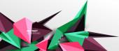 Trendige einfache Dreieck abstrakten Hintergrund, dynamisches Bewegungskonzept. Vektor-Illustration für Tapeten, Banner, Hintergrund, Karte, Buchillustration, Landing Page