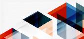 Geometrischer abstrakter Hintergrund, Mosaikdreieck und Sechseckformen. Trendige abstrakte Layoutvorlage für Business- oder Technologiepräsentation, Internet-Poster oder Web-Broschüre, Tapete