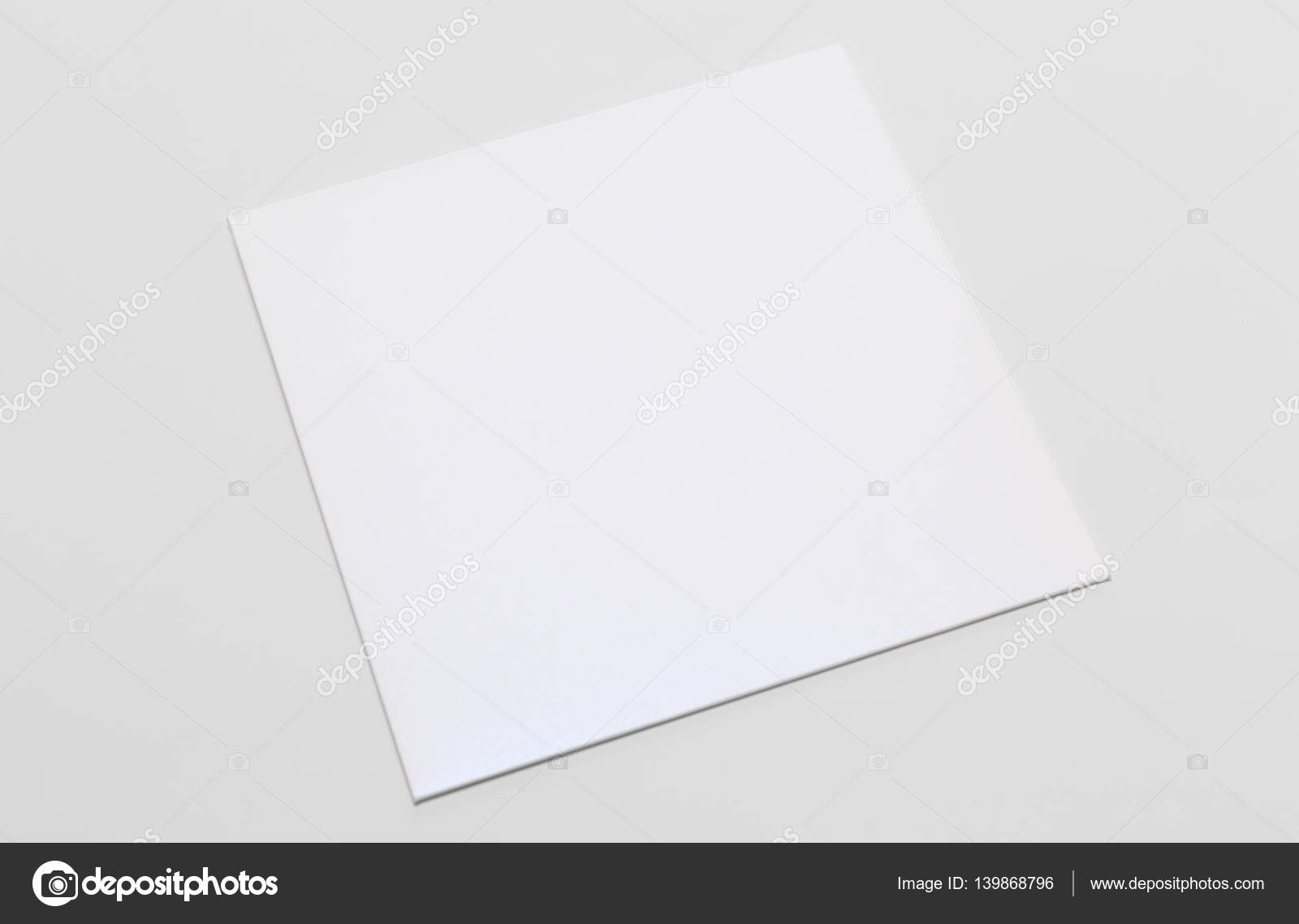 White Square Envelope Template Isolated Stock Photo Bordobox