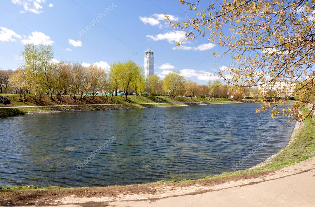 Park in the city of Moscow. Russia