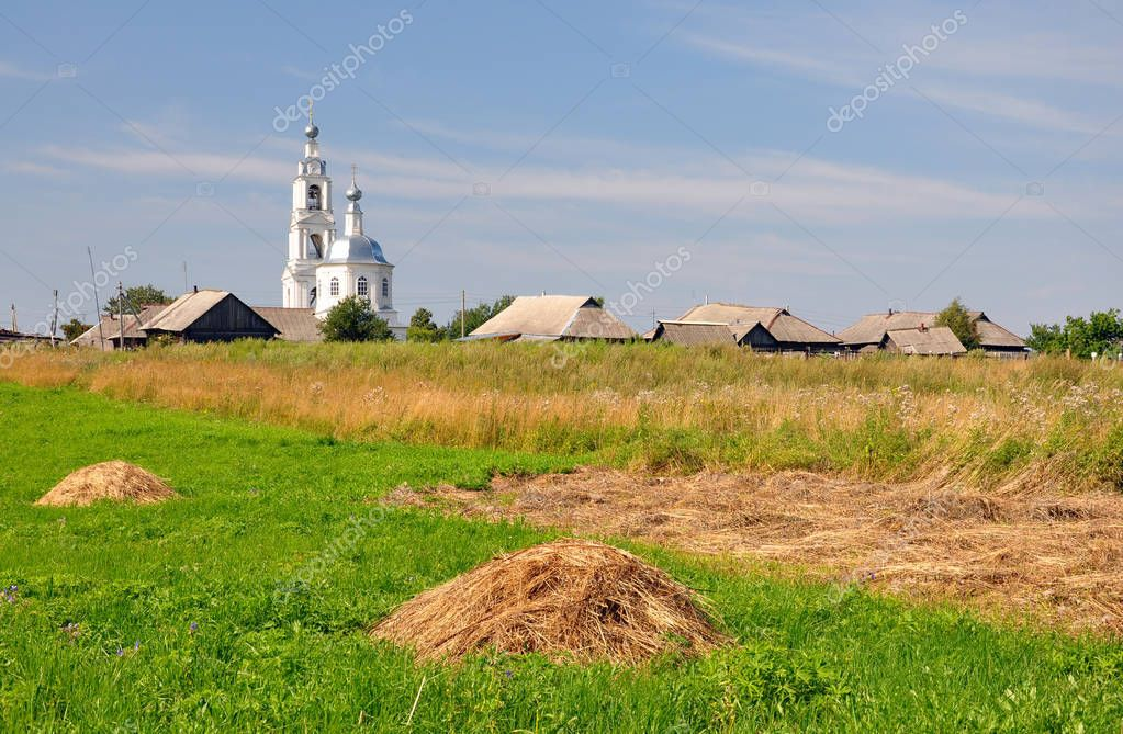 Rural landscape in Central Russia