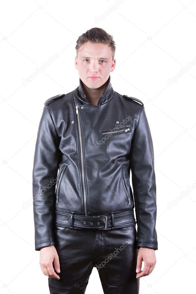 Portrait Veste Fashion En Porter Mannequin Bel Beauté Cuir Homme UAwEqwpxa1