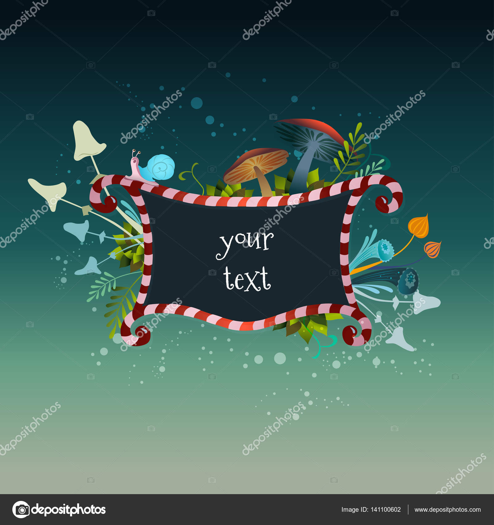 Beautiful Frame Alice In Wonderland Stock Vector Olivagreen