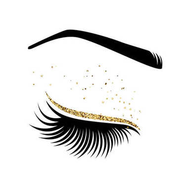 Vector illustration of lashes.